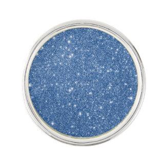 Blue Glitter Sparkles Lapel Pin