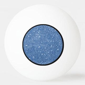 Blue Glitter Sparkles Ping Pong Ball