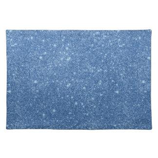 Blue Glitter Sparkles Placemat