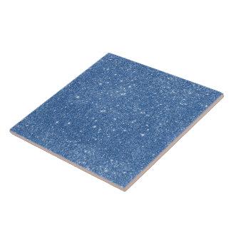 Blue Glitter Sparkles Tile
