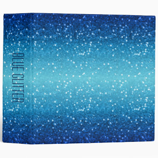 blue glitter vinyl binders