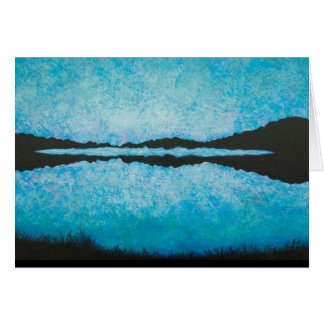 Blue Glow Card