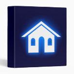 blue glow home vinyl binder