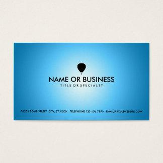 blue glow hot air balloon business card