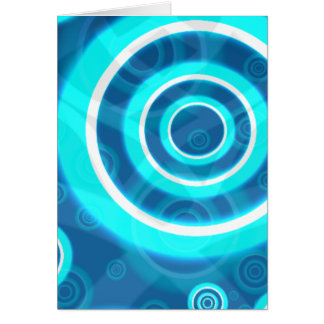 Blue Glowing Cosmic Rings Card
