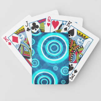 Blue Glowing Cosmic Rings Poker Deck