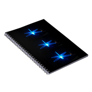 Blue Glowing Dragonflies Note Book Journal