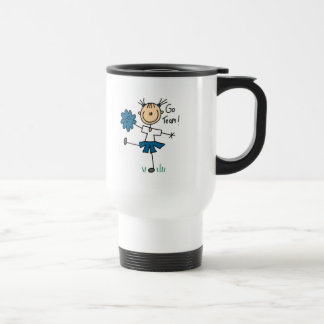 Blue Go Team Cheerleader Mug