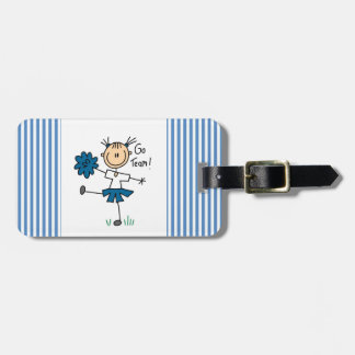Blue Go Team Cheerleader T-shirts and Gifts Luggage Tag