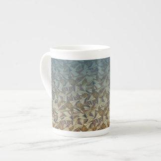 Blue Gold Bows Tea Cup