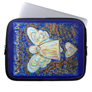 Blue Gold Cancer Cannot Angel Computer Sleeve Bag