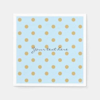 Blue & Gold Dots Royal Crown Prince Party Napkins Paper Napkin