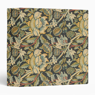 Blue Gold Floral Fabric Binder