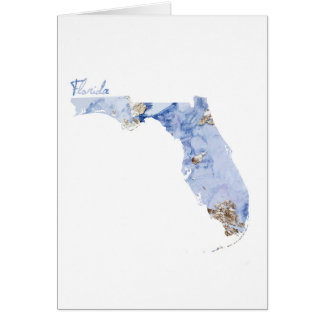 Blue & Gold Florida State Map Card