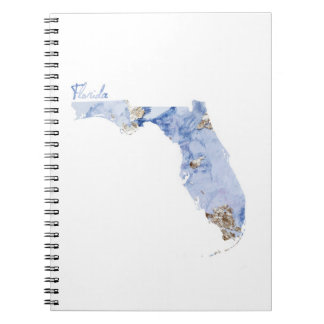 Blue & Gold Florida State Map Notebook