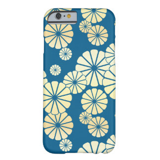 Blue gold foil glam daisy bloom pattern barely there iPhone 6 case