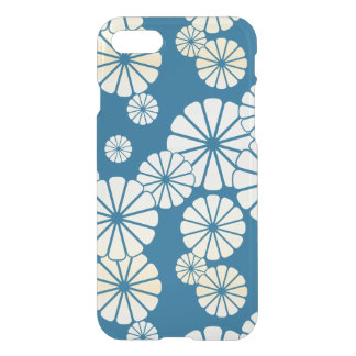 Blue gold foil glam daisy bloom pattern iPhone 7 case