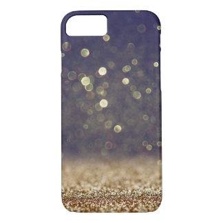 Blue & Gold Glitter iPhone 7 Case