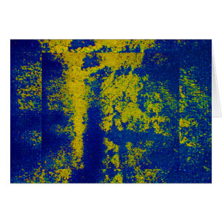 Blue Gold III Greeting Card