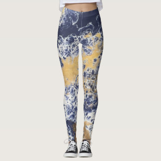 Blue Gold Leggings