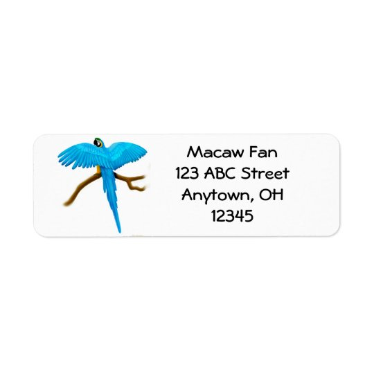 Blue & Gold Macaw Label