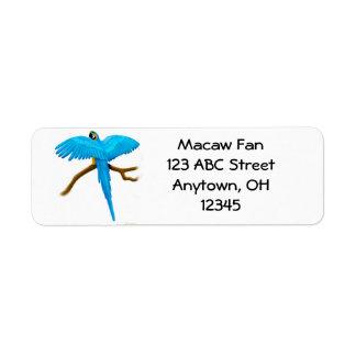 Blue & Gold Macaw Label Return Address Label