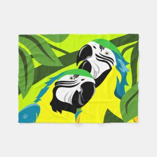 Blue Gold Macaws Fleece Blanket