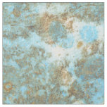 """Blue/Gold Marble Combed Cotton (56"""" width) Fabric"""