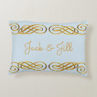 Blue & Gold Personalized Throw Pillow