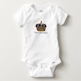 Blue Gold Prince Crown Prince Baby Boy Baby Onesie