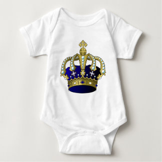 Blue & Gold Royal Crown Baby Bodysuit