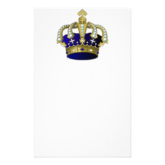 Blue & Gold Royal Crown Stationery