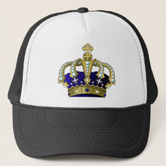 Blue & Gold Royal Crown Trucker Hat