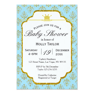 Royal Prince Baby Shower Invitations Announcements Zazzle Canada