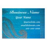 Blue & Gold Silk Paisley Cloth Business Card
