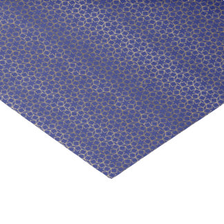 Blue & Gold Star Arabesque Pattern Tissue Paper