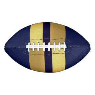 Blue Gold Stiped  2 Panel Design Football