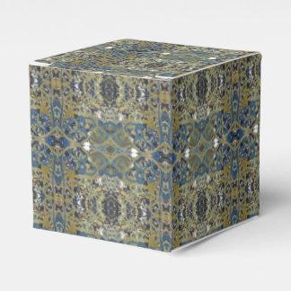 blue gold stripe gift box