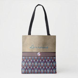Blue, Gold, Tan-SOPHISTICATED-Handbag / Tote