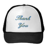 Blue Gold Thank You Design The MUSEUM Zazzle Gifts Mesh Hat