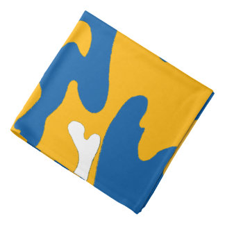Blue Gold White Camouflage California Bandana