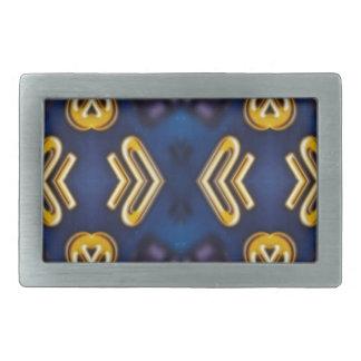 Blue Golden Yellow Masculine Pattern Belt Buckles