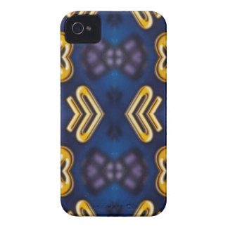 Blue Golden Yellow Masculine Pattern iPhone 4 Case