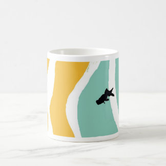 blue goldfish mug