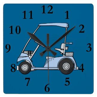 blue golf cart clock