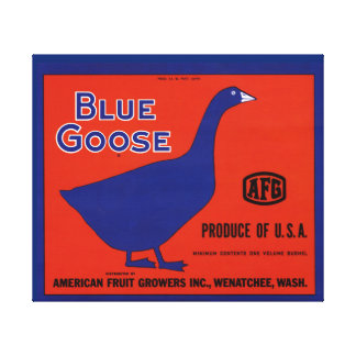 Blue Goose Brand Fruit Crate Label Canvas Print