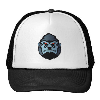 blue gorilla head trucker hat
