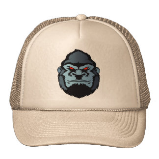 blue gorilla head trucker hat