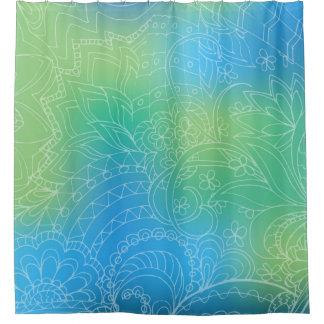blue gradient zen pattern