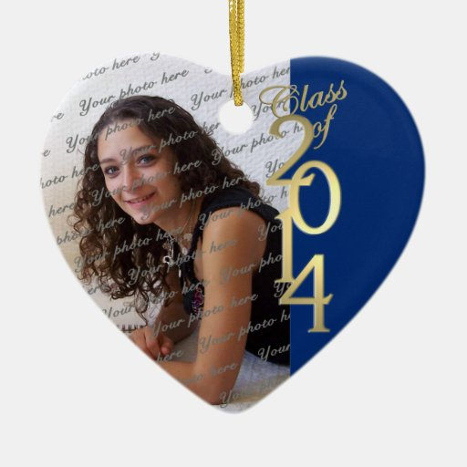 Blue Graduation Class of 2014 Christmas Ornaments